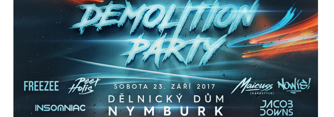 Demolition Party Nymburk 23. září 2017