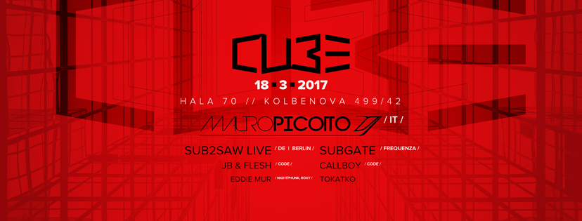 Mauro Picotto a Cube warehouse party v Praze!